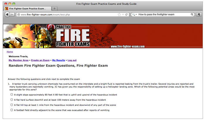 Firefighter i ii hazmat civil service exam preparation online nremt screen fandeluxe